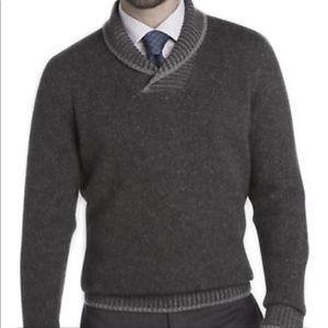 NWT Joseph Abboud Shawl Collar Sweater